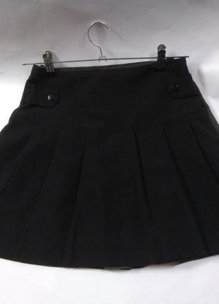 Юбка черная в складку школьная