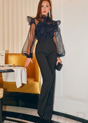 Блуза с воздушными рукавами