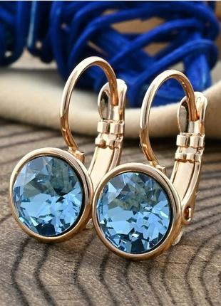 Элегантные серьги xuping с кристаллами камнями сваровски swarovski