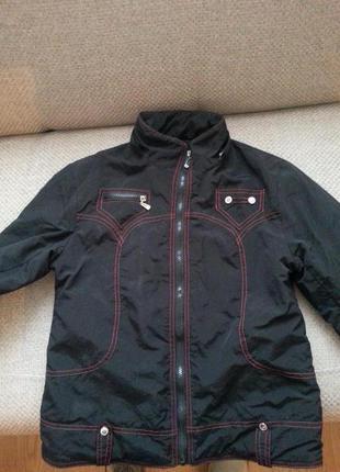 Курточка-ветровка с флисовой подкладкой