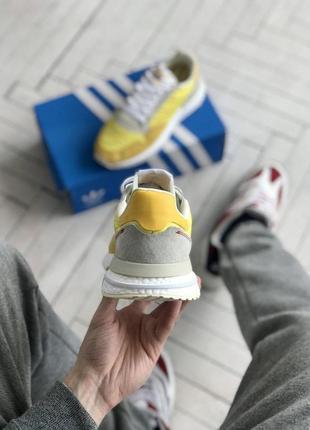 👟кроссовки adidas zx 500  на лето жёлтые👟