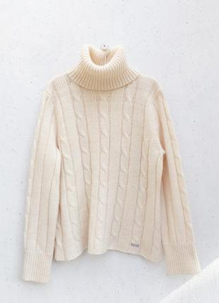 Шикарный натуральный брендовый теплющий свитер альпака
