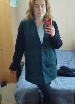 Пальто-бойфренд с мехом. размер 50.