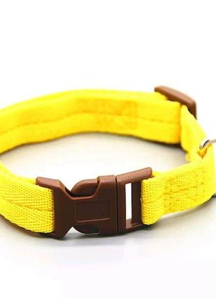 Ошейник для животных для собак кошек желтого цвета, размер l