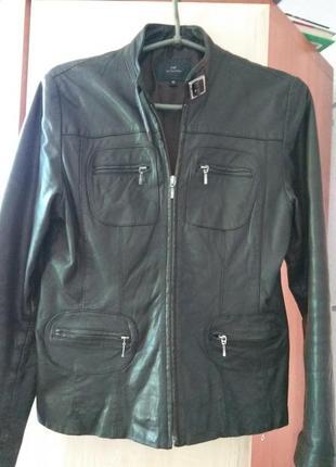 Кожаная куртка косуха f&f
