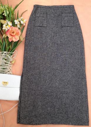 Стильная  шерстяная юбка макси caroll, франция, m, 44-46, eur 38-40, uk 10-12, можно s