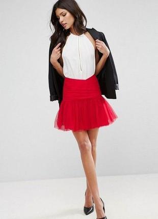 Фатинова спідниця asos design юбка мини тюля