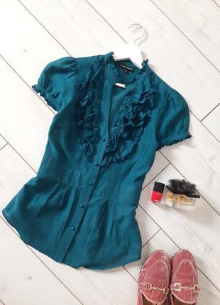 Чудесная женственная блуза шелк с хлопком..# 483
