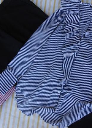 Черные заужен. брючки river island и блуза zara 36-38 р.