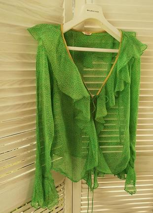 Шелковая блуза накидка guess оригинал
