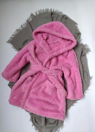 Халат рожевий, халатик, халатик, плюшевий халат, теплый