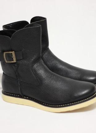 Кожаные демисезонные сапоги ботинки