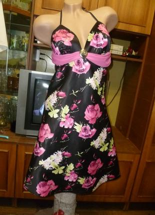Ооочень красивое летнее платье-сарафан с открытой спинкой трапеция коктельное вечернее