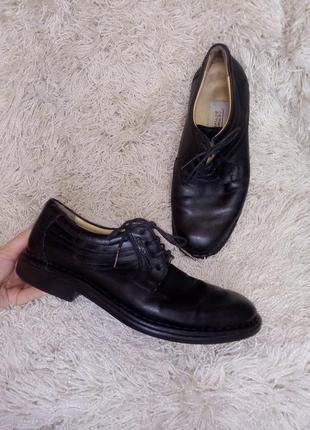 Мужские туфли из мягкой кожи на широкую стопу