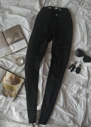 Чорні скіні джинси tally weijl
