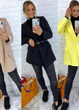 Удлинённый пиджак свободного кроя 3 цвета