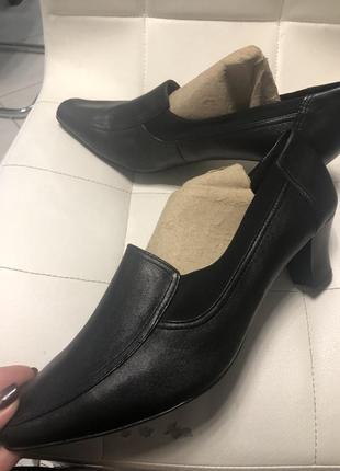 Стильные туфли на полнуюногу р 42