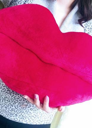 Декоративная подушечка губи подушка губки