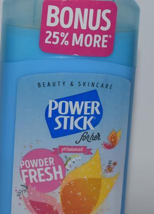 Дезодорант антиперспирант power stick for her powder fresh antiperspirant deodorant usa