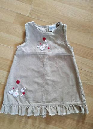 Лёгкое, летнее платье для девочки на 1.5-3 года