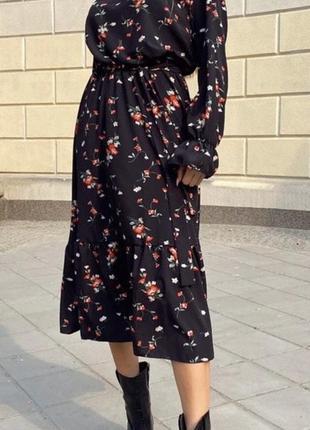 Платье с рукавами софт