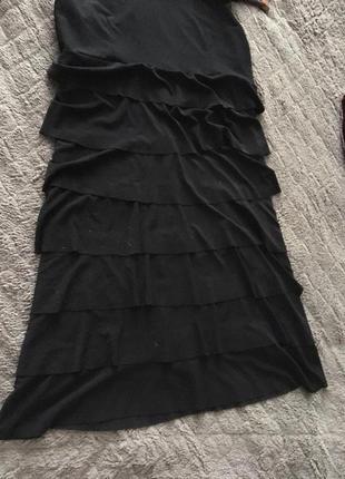 Шикарное чёрное платье zean