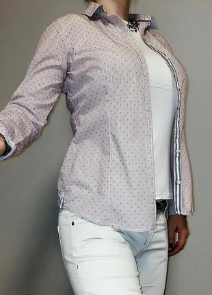 Легкая хлопковая рубашка tom tailor l/48 размер