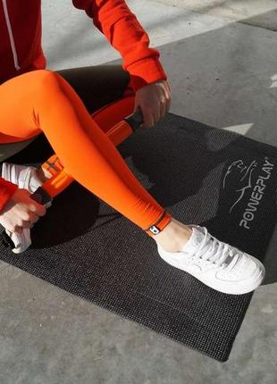 Коврик для йоги и фитнеса powerplay black4 фото