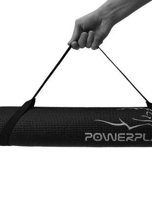 Коврик для йоги и фитнеса powerplay black6 фото
