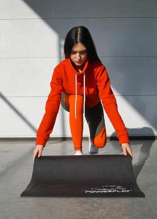 Коврик для йоги и фитнеса powerplay black7 фото