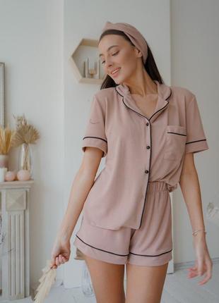 Бежевая пижама