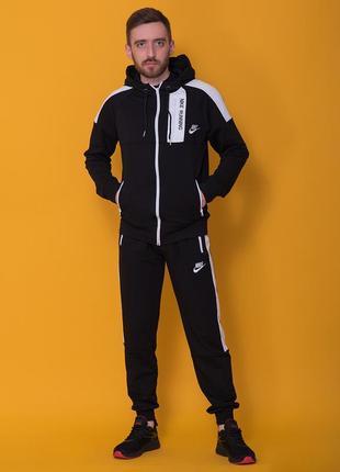Мужской спортивный костюм nike черного цвета новый