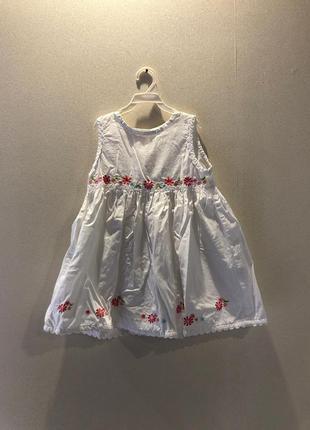 Платье летнее белое на 2-3 года