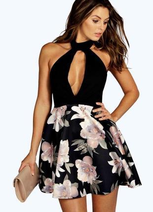 Платье с чокером boohoo
