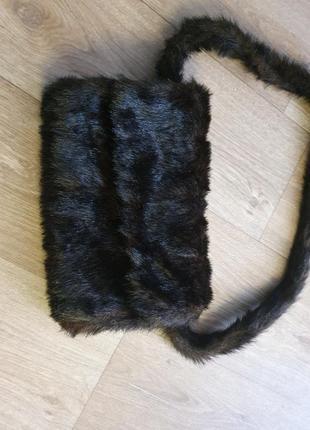 Сумка-муфта меховая