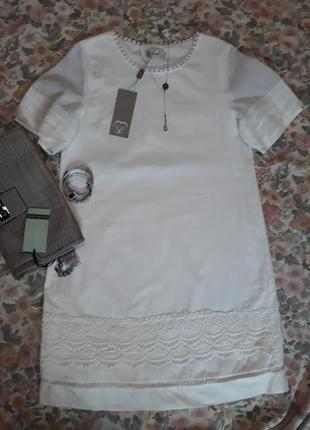 Очень красивое натуральное белое платье бренда axel