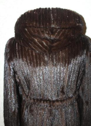 Шуба с капюшоном, легендарная норка blackglama, на 44-46 размер