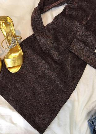 Блестящее платье h&m