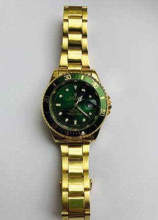 Мужские часы rolex submariner gold green