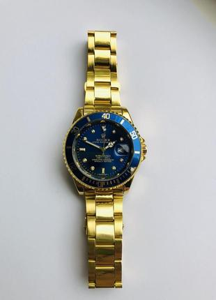 Мужские наручные часы rolex submariner gold blue