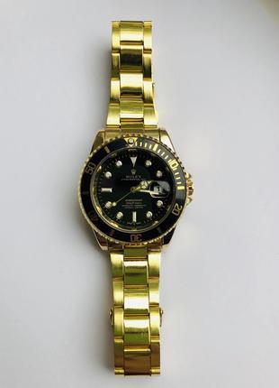 Мужские наручные часы rolex submariner gold black