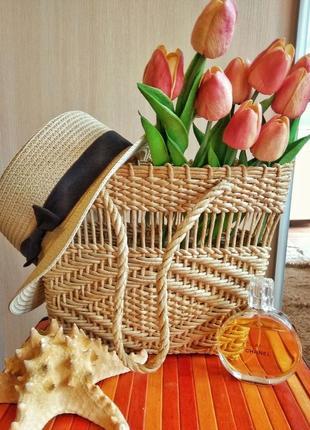 Соломенная сумка. плетёная корзина. ❤️🎁