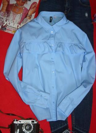 Очень красивая рубашка, блуза с рюшой