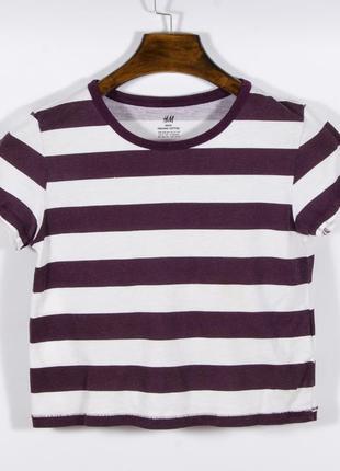 Короткая футболка женская, укороченная футболка полосатая, футболка топ, жіноча футболка
