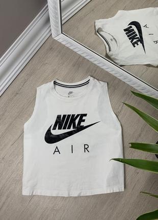 Nike женская кроп футболка майка поло найк белая оригинал