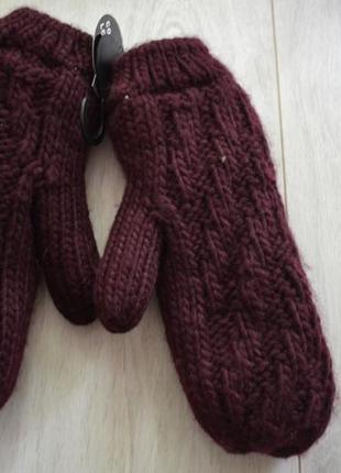Теплые варежки рукавицы