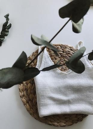 Вязанная майка-топ из шёлка