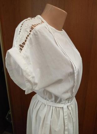 Свадебное платье в стиле рустик, бохо, миди, вышивка, , кружево