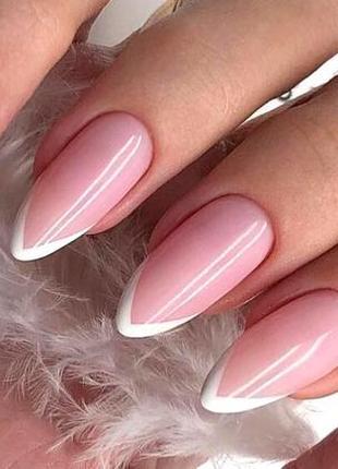 Прозрачно-розовый гель для наращивания ногтей