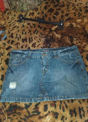 Продам юбку джинсову, розмір 14 чи м